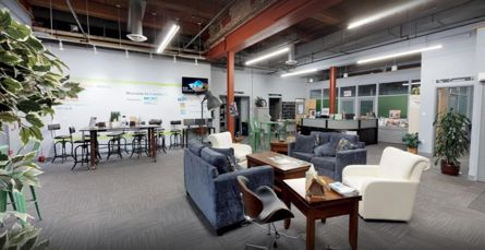Foundry 66 is a 7,000 square-foot co-working space in Norwich occupied by 30 plus businesses. Schleidt Works LLC helped develop the space. Photo submitted by Devin Schleidt.