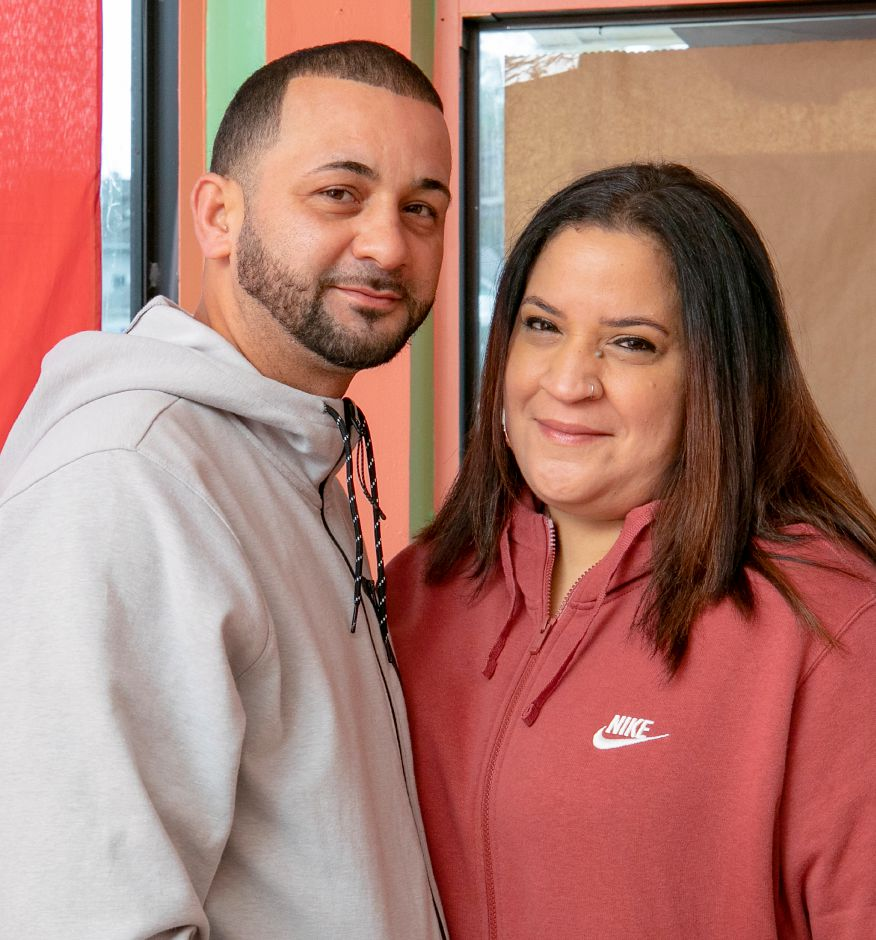 Wilfredo Ribot and Chely Garces, owners of El Jibarito Take Out, a new restaurant coming to 620 E. Main St., Meriden, Mon., Oct. 5, 2020. Dave Zajac, Record-Journal