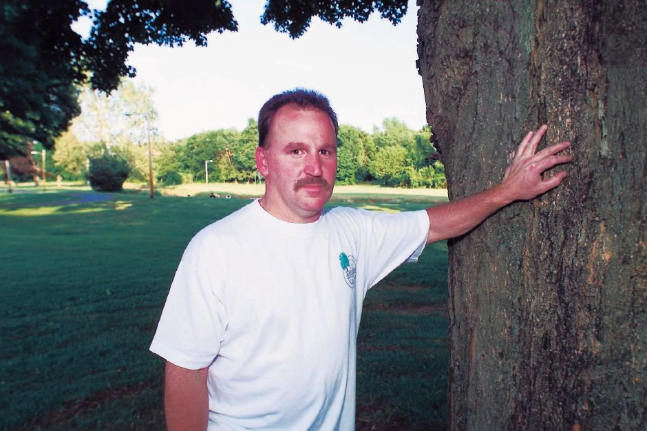 Greg Maynard, new president of the City ParkBrookside Park Neighborhood Association, in Brookside Park Thurs., June 3, 1999.