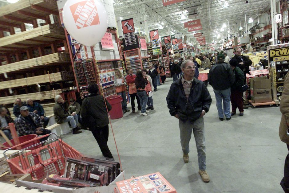 Home Depot in Wallingford held a board cutting and general contractors opening on Wednesday Jan. 10, 2001 evening to mark the opening of the 15th Home Depot in Connecticut.