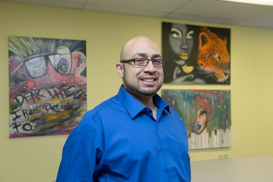 Apollo Maldonado has opened a digital art studio where local artists can collaborate Thursday at the Artists Colony in Meriden. The studio is planning a soft opening on January 7th. December 27, 2018 | Justin Weekes / Special to the Record-Journal