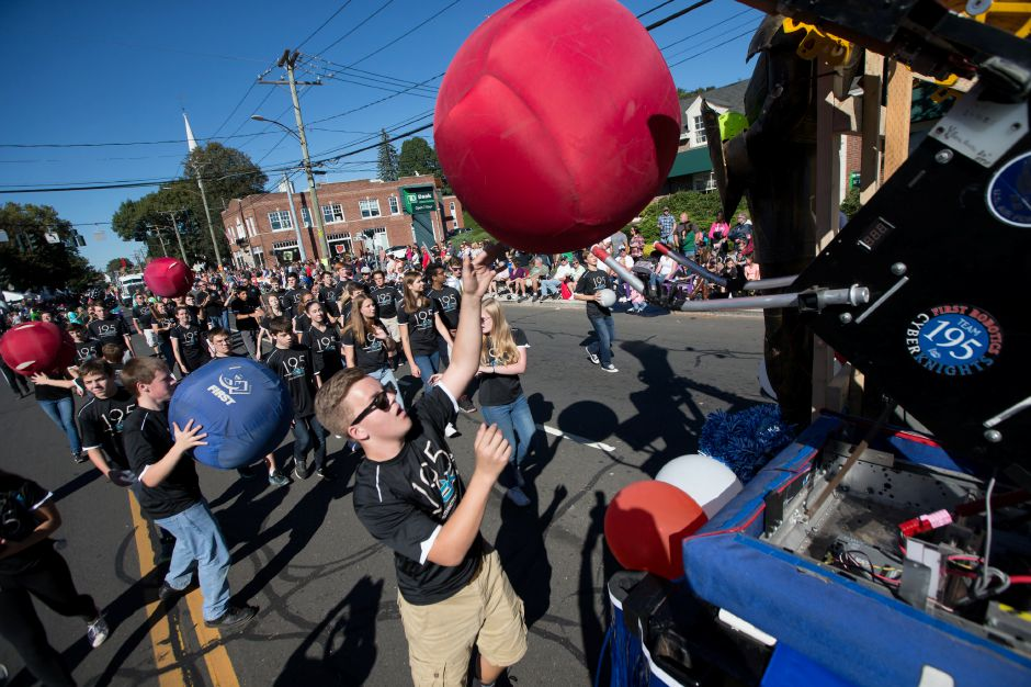 Southington Cyber Knights Sunday during the 49th Apple Harvest Parade in Southington October 1, 2017 | Justin Weekes / For the Record-Journal