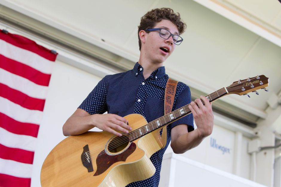 Braiden Sunshine performs on the town stage  during the Record Journal and YMCA's 150th celebration on the Meriden Green in Meriden on Sept. 17, 2017.Justin Weekes, special to the Record-Journal