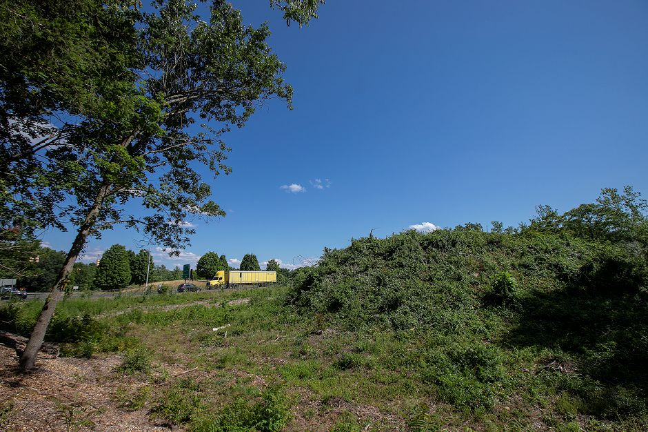 Land proposed for development near the Interstate 691 ramp on Highland Avenue in Cheshire, Wednesday, July 18, 2018. Dave Zajac, Record-Journal
