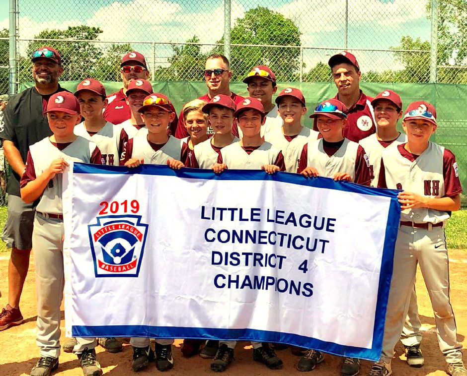 The 12U champs: Nate Acevedo, Alex Bowery, Chris Cretella, Jordan Higgins, Christopher Kottage, Joey Mastroianni, Bryce Montabana, Nicholas Romano, Ryan Semple, John Slais, Brandon Stevens and Jaden Wells. The team is coached by Angelo Romano, Victor Acevedo, Chris Cretella and Matthew Stevens.
