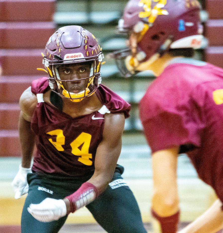 Sheehan running back Terrence Bogan was one of five area players who made the All-State Top 26 list. Aaron Flaum, Record-Journal