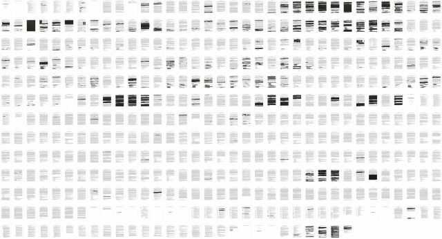 This combination of images shows the entire redacted report by special counsel Robert Mueller