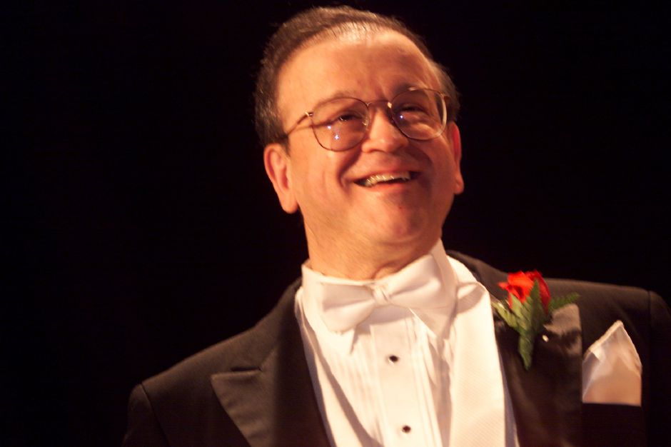 RJ file photo - Robert V. Coccagnia conducted the Meriden Symphony Orchestra for the last time March 6, 1999.