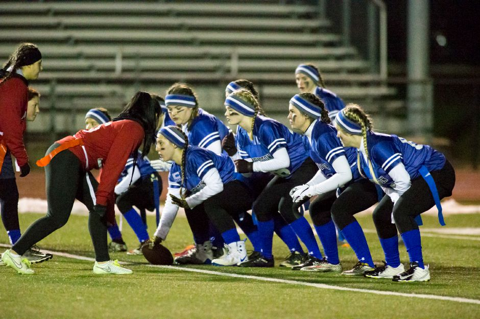 Monday during powder puff game with Rocky Hill at Fontana Field on the campus of Southington High School in Southington November 19, 2018 | Justin Weekes / Special to the Record-Journal