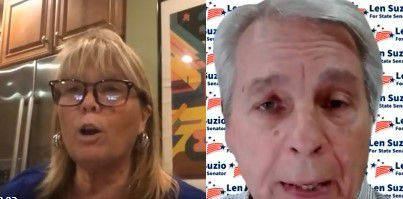 State Sen. Mary Daugherty Abrams and challenger Len Suzio debated the issues live on Facebook during a forum sponsored by the Record-Journal Thursday night.