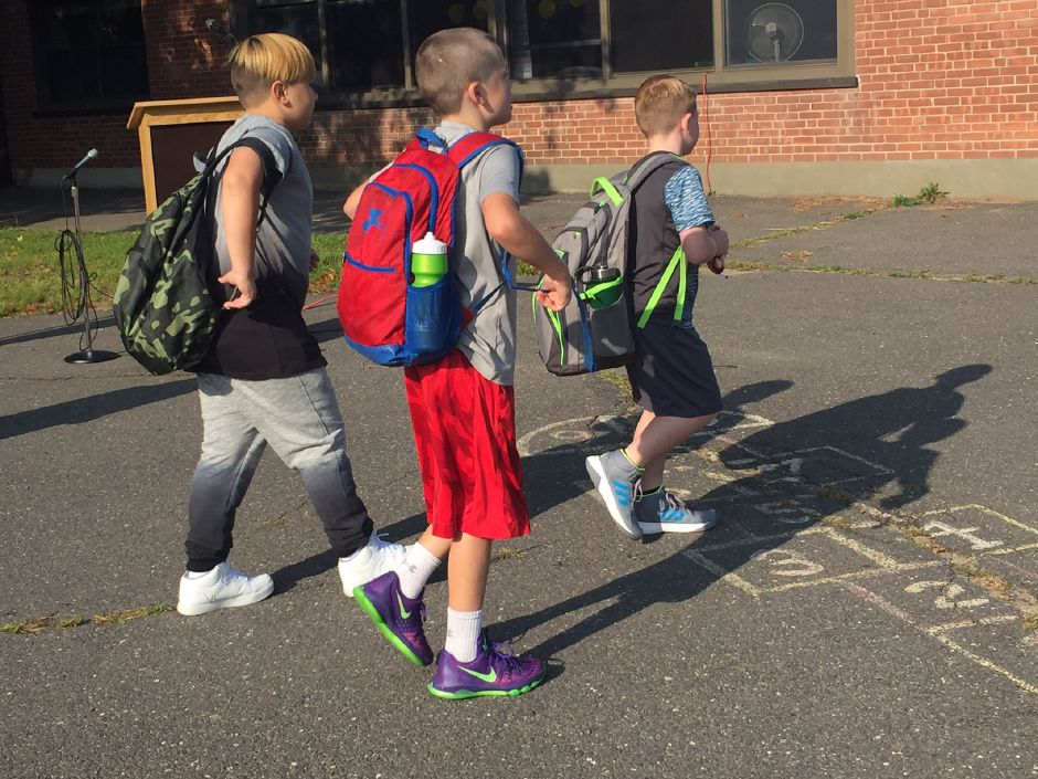 FILE: First day of school in Plainville. |Ashley Kus, The Citizen