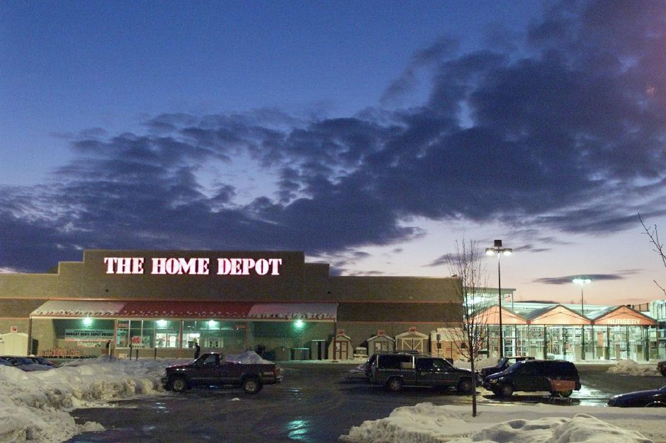 Exterior of Home Depot in Wallingford Tues., Jan. 9, 2001.