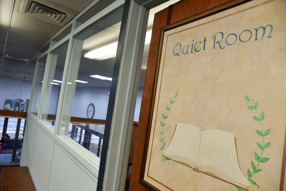 "A three-walled ""study room"" at the Southington Public Library, 255 Main St., on Monday, Dec. 30, 2019. The town is looking to build a new, larger library to accomodate growing needs. including more quiet study areas. 
