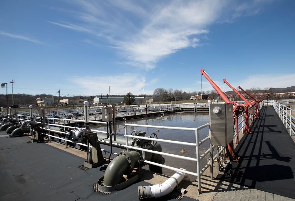 Phosphorus removal area at the wastewater treatment plant in Meriden, Thursday, March 30, 2017. In order to meet requirements, area towns are investing millions in upgrading water treatment plants to lower the amount of phosphorus being discharged into the Quinnipiac River. | Dave Zajac, Record-Journal