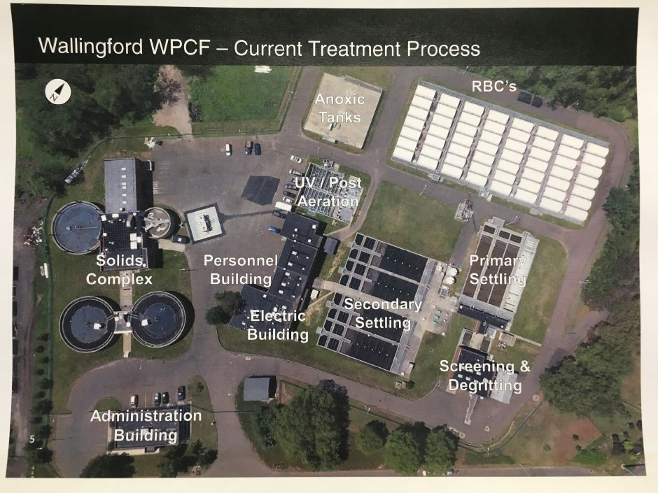 Proposed Wallingford wastewater treatment plant upgrades for phosphorus removal project, presented Monday, Jan. 11, 2019. | Courtesy of AECOM