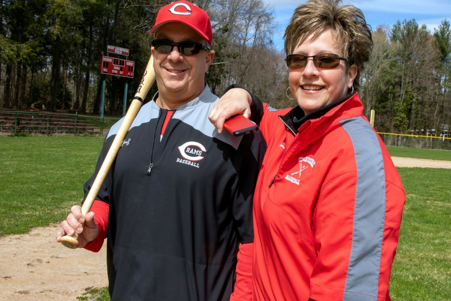 Cheshire High School baseball coach Mike Lussier made a 48-second video clip with the help of his wife Donna to bolster the spirits of Connecticut athletes while the spring scholastic season remains indefinitely suspended by the coronavirus crisis. Aaron Flaum, Record-Journal