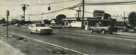 Aug. 1987: The intersection of Queen Street and Airport Road was the second-most car collision prone area of Southington. | Record-Journal archive