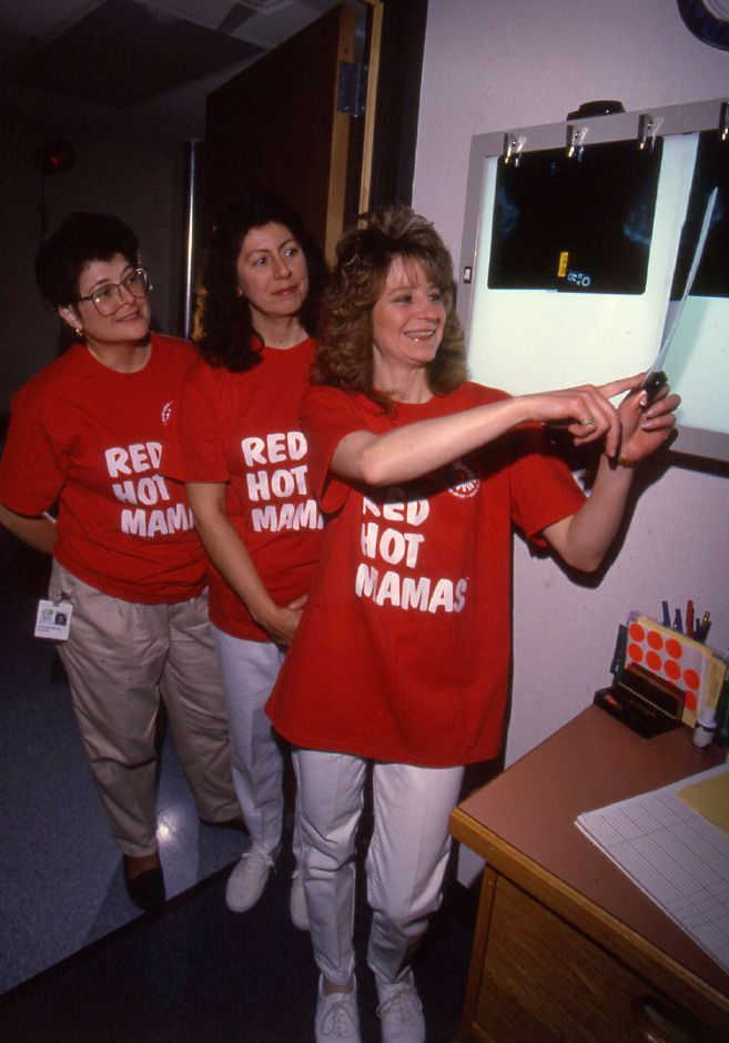 RJ file photo - Kathy Deroun, Darla Lawson and Nora Carvalho, who work at the Women