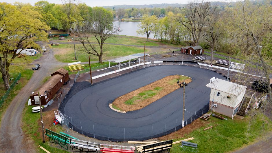 The Silver City Quarter Midget Club racetrack in Meriden has been resurfaced, Thurs., Apr. 29, 2021. NASCAR racing star Joey Logano has pledged to pay for the re-grading and asphalt resurfacing of the Silver City Quarter Midget Club racetrack. It's the first such work done on the track since 1975. Logano grew up racing quarter midgets at Silver City Quarter Midget Club. Dave Zajac, Record-Journal