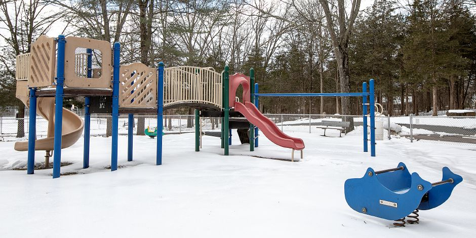 FILE: The playground at Veterans Memorial Park on Woodruff Street in Southington, Wed. Feb. 13, 2019. Dave Zajac, Record-Journal