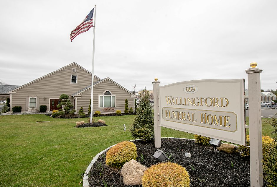 Wallingford Funeral Home, 809 N. Main St. Ext., Wallingford, Mon., Mar. 30, 2020. Dave Zajac, Record-Journal