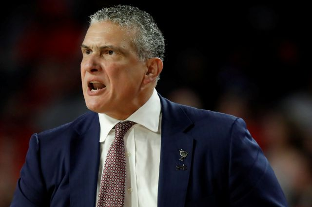 South Carolina coach Frank Martin reacts during the team