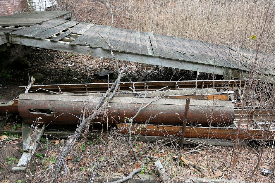 Dilapidated boats on the former Choate boathouse property at 320 Washington St. in Wallingford, Mon. Nov. 26, 2018. Dave Zajac, Record-Journal