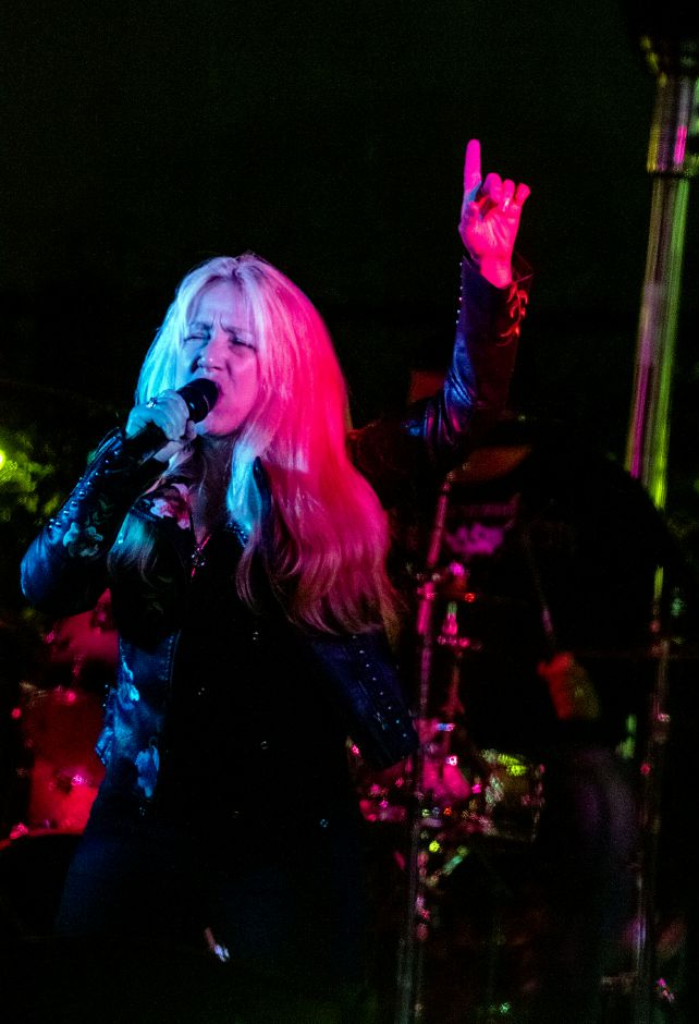 LiveWired lead singer Katrina DeVona during a performance at Crystal Bees in Southington on Friday, September 18, 2020. Aaron Flaum, Record-Journal