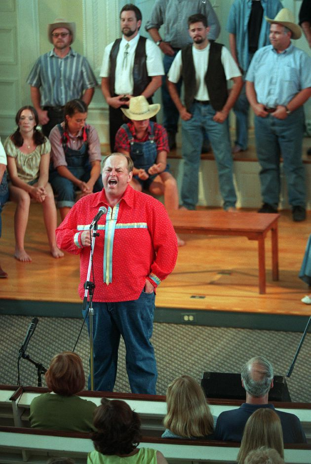 RJ file photo - Rev. Gordon Ellis performs in Cotton Patch Gospel at the First Congregational Church in Southington June 13, 1999.