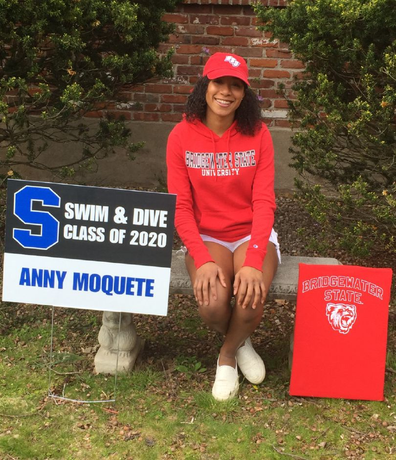Anny Moquete Volquez moved to the United States from the Dominican Republic in the summer of 2015 knowing no English and having no background in sports. Five years later, she's graduating Southington High and moving on to Bridgewater State University in Massachusetts, where she'll compete in swimming, track and cross country. | Photo courtesy of Evan Tuttle