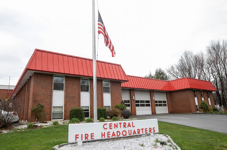 Wallingford Central Fire Headquarters, Thurs., Apr. 9, 2020. Dave Zajac, Record-Journal