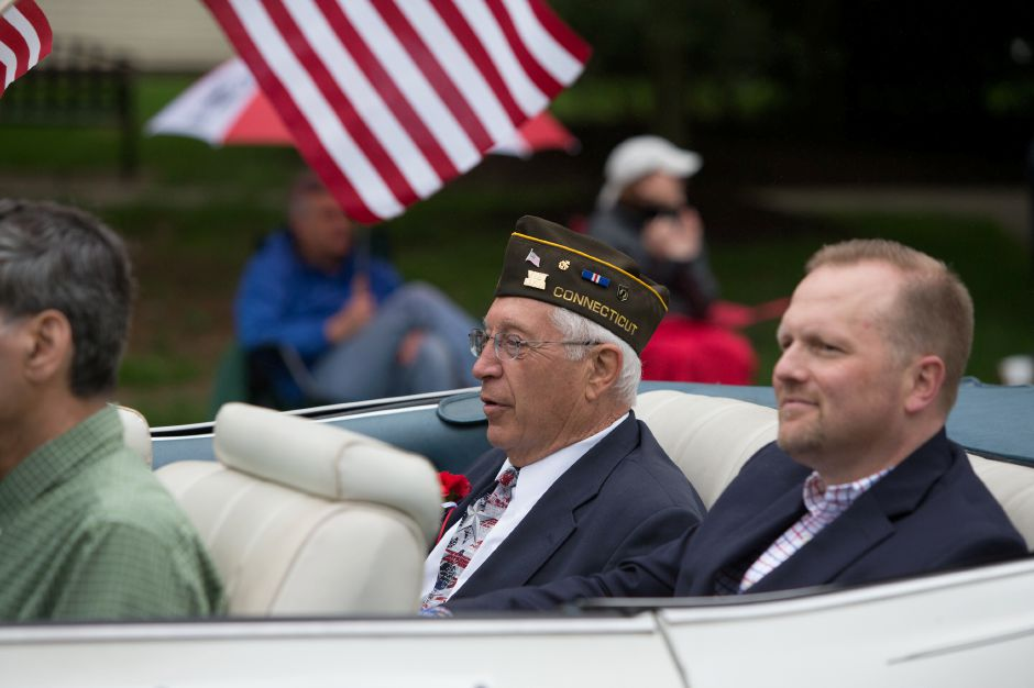 Grand Marshal John White Sunday during the Cheshire Memorial Day Parade in Cheshire May 27, 2018 | Justin Weekes / Special to the Record-Journal