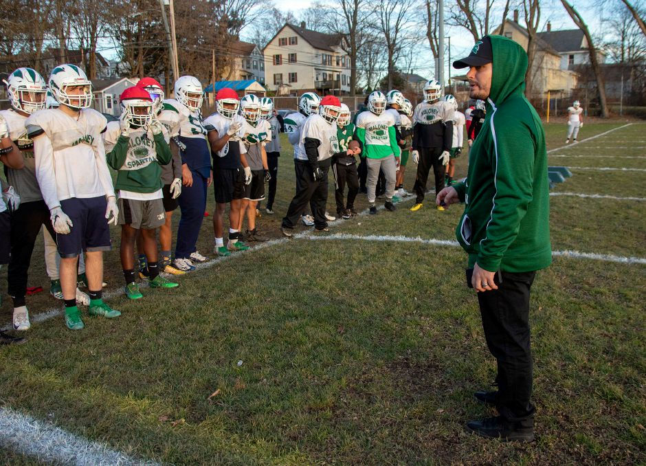 In the wake of the CIAC's cancellation of the 2020 high school football season, Maloney coach Kevin Frederick and his Spartans, along with Platt coach Jason Bruenn and his Panthers, are hoping to compete as independent club teams this fall. Aaron Flaum, Record-Journal