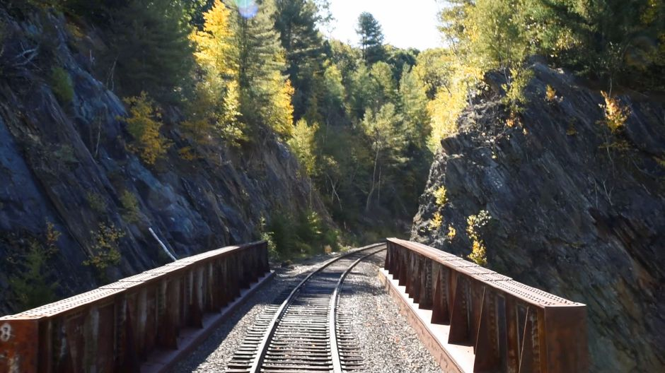 Views from the Naugatuck Railroad in Thomaston on Saturday, Oct. 5, 2019. The train included a stop at a private pumpkin patch. | Bailey Wright, Record-Journal