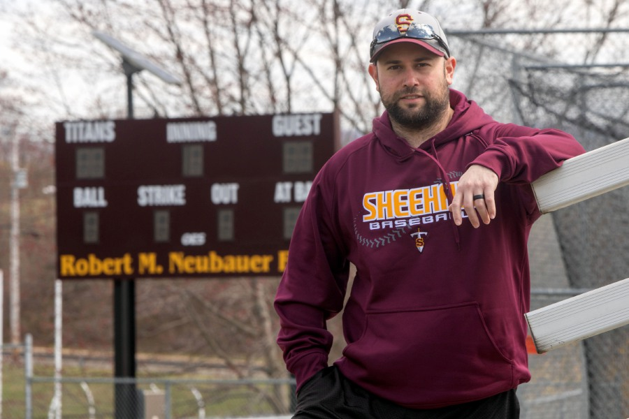 With schools closed until at least April 20 and the 2020 spring season on hold due to the coronavirus crisis, first-year Sheehan baseball coach Dom Lombardozzi is patiently waiting to coach his first game at Robert M. Neubauer Field. Aaron Flaum, Record-Journal
