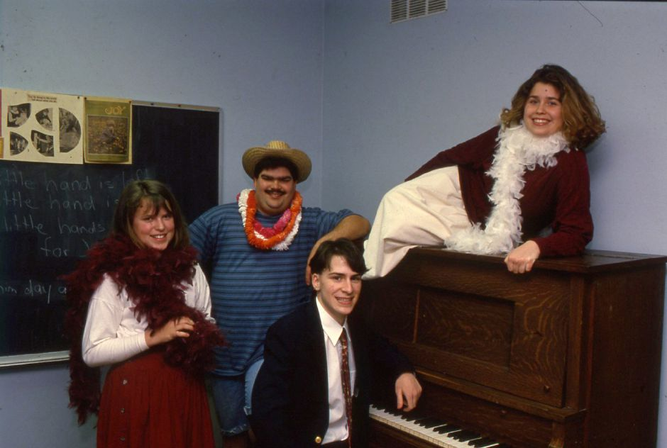 RJ file phto - Megan Anderson, Greg Chester, Alicia Merrill and Seth Garbarsky are art of the performing Hi-Liters cast directed by Richard Fontanella in Meriden Jan. 24, 1994.