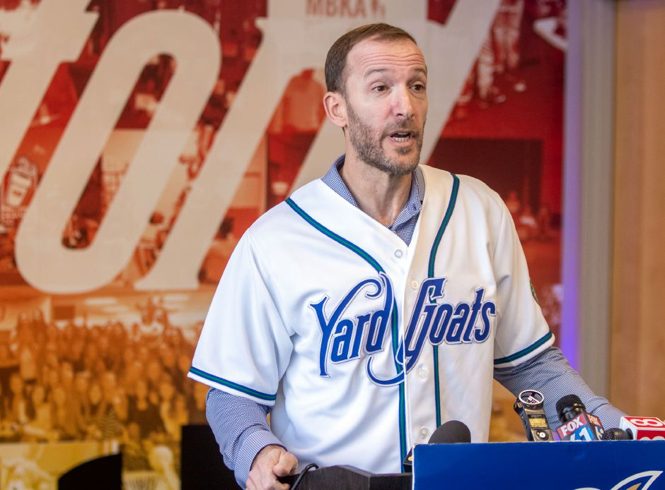 The Hartford Yard Goats on Tuesday officially re-appointed Southington's Chris Denorfia as their manager. The former Major Leaguer was hired last year, but never got to manage due to the pandemic. The entire 2020 minor league baseball season was cancelled. Aaron Flaum, Record-Journal