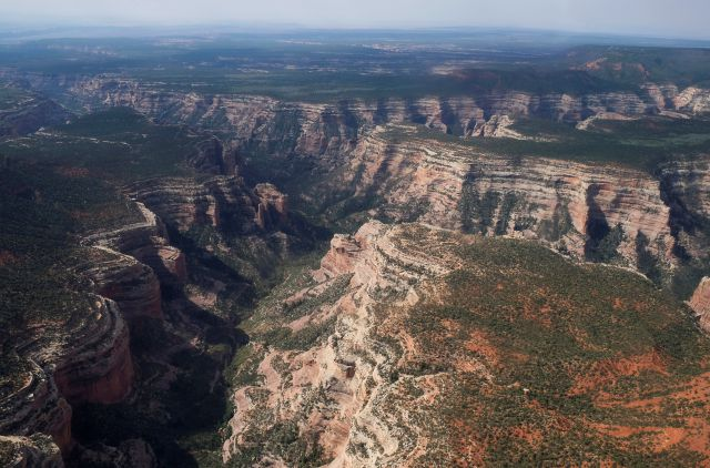 FILE - In this May 8, 2017, file photo, is Arch Canyon within Bears Ears National Monument in Utah. President Joe Biden said Wednesday, Jan. 20, 2021, he plans to review the Trump administration