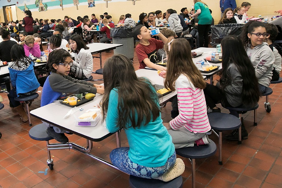 FILE: Students take lunch break at Israel Putnam Elementary School in Meriden, Thursday, Feb. 8, 2018. Dave Zajac, Record-Journal
