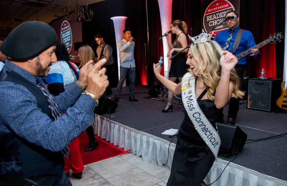 Miss Connecticut Jillian Duffy dances at the Readers' Choice Awards at the Aqua Turf Club in Plantsville on Wednesday.Aaron Flaum, Record-Journal