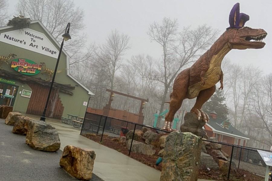 The Dinosaur Place in Nature's Art Village is among many places to take kids for the day this spring. |Francesca Fontánez, special to Record-Journal