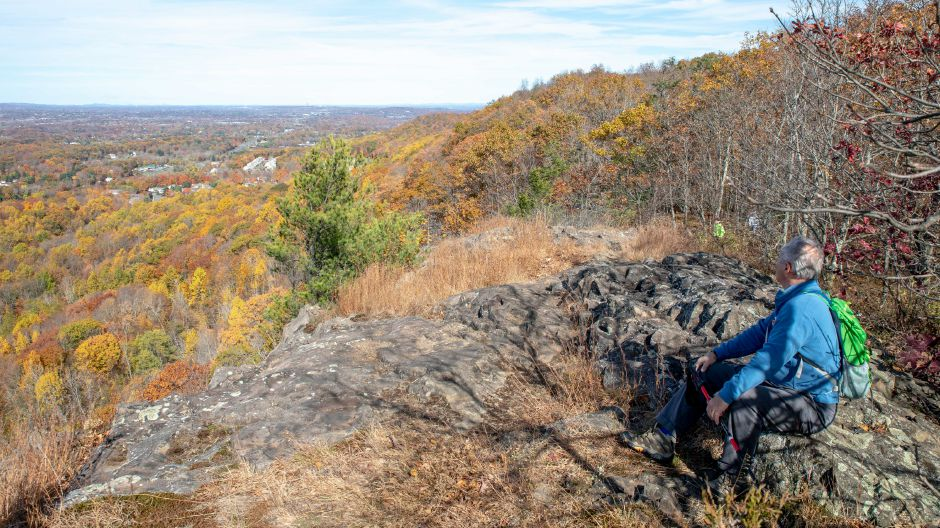 The Berlin Land Trust led a hike to Mount Lamentation
