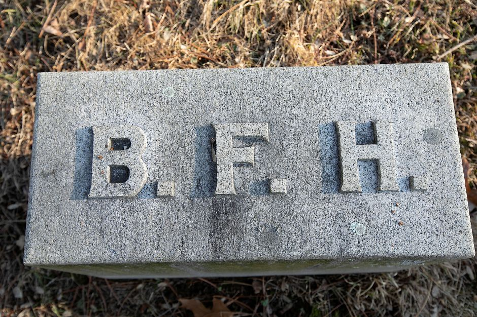 The grave marker of Benjamin F. Harrison at In Memoriam Cemetery in Wallingford, Wed., Jan. 15, 2020. Dave Zajac, Record-Journal