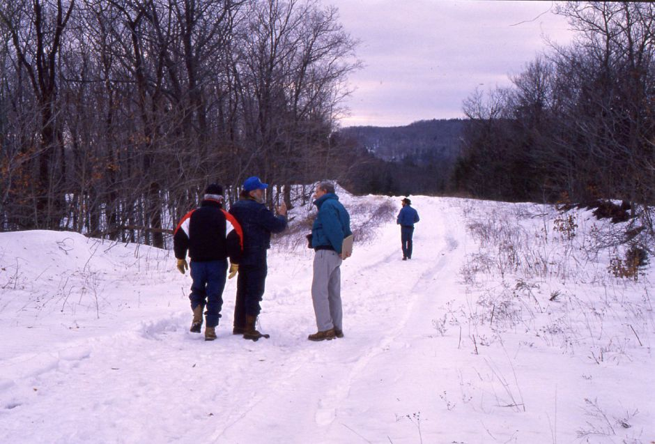 RJ file photo - Officials inspect Cathole Mountain for unmapped wetlands Jan. 28, 1994.