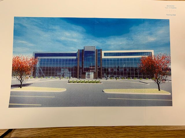 A rendering of the new medical building proposed for West Johnson Avenue. Mariah Melendez, Cheshire Herald staff