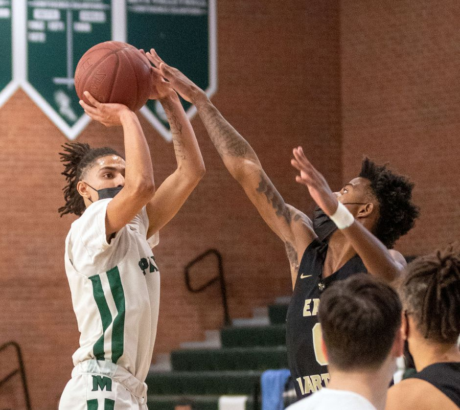 Maloney senior guard Jeremiah Williams was Vincent Martinez's backcourt partner and assumed a team leadership role as the Spartans went 12-0 in the regular season and qualified for the CCC's Championship Bracket Tournament. Aaron Flaum, Record-Journal