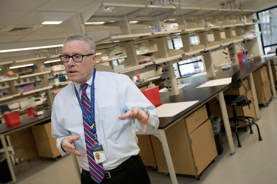 Richard Zeff, professor and chair, Department of Medical Sciences, talks about a new medical laboratory at Quinnipiac University