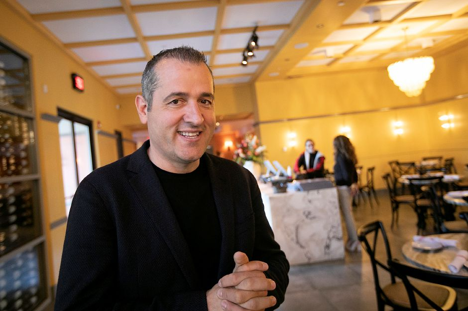 Viron Rondos, owner of Viron Rondo Osteria, 1721 Highland Ave., Cheshire, Nov. 13, 2019. The restaurant has undergone a $7 million expansion. Dave Zajac, Record-Journal