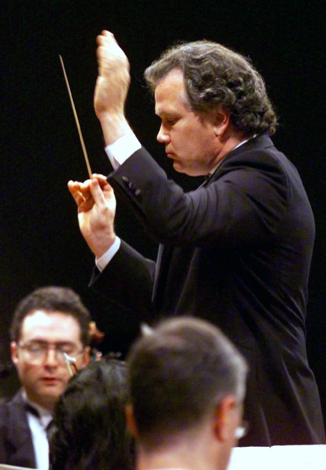 Conductor Peter Sacco, Sat. ,Sept. 25 1999 at Maloney High.