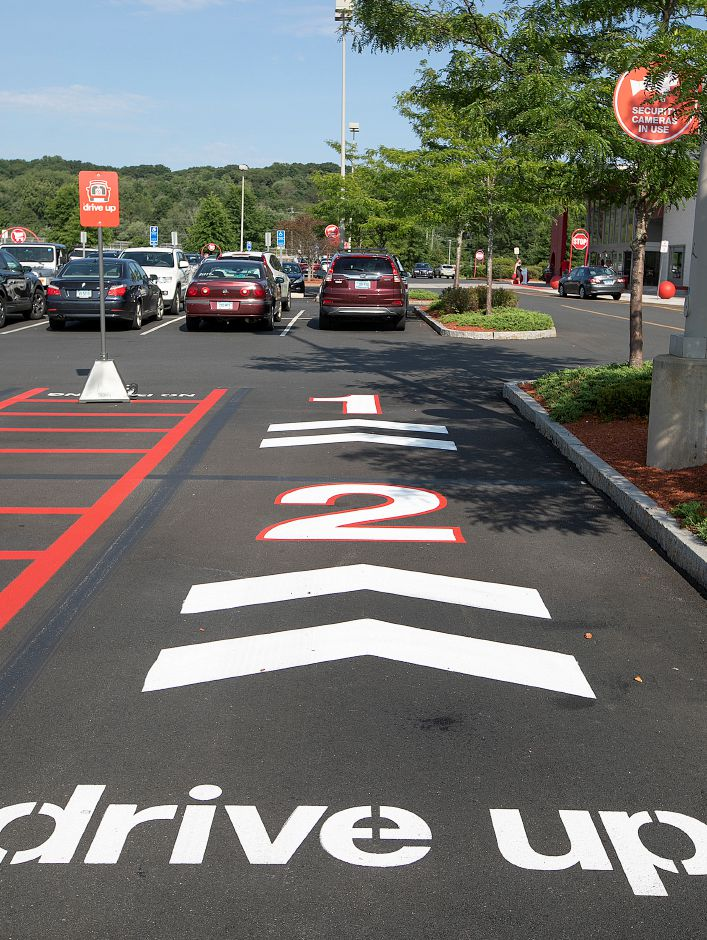 Parking for Drive-Up shopping customers at Target in Southington, Fri., Aug. 16, 2019. The retail chain is looking for Planning and Zoning Commission approval to install lights and other signifiers for its Drive-Up shopping service where customers can get items they've ordered online. Dave Zajac, Record-Journal